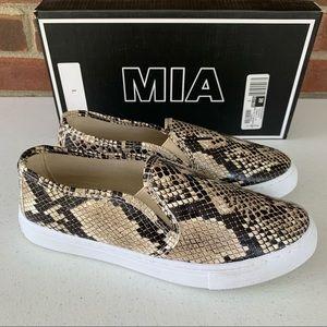 MIA slip on snake animal print flats loafers
